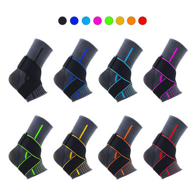 Copper Plus Adjustable Elastic Ankle Support Straps
