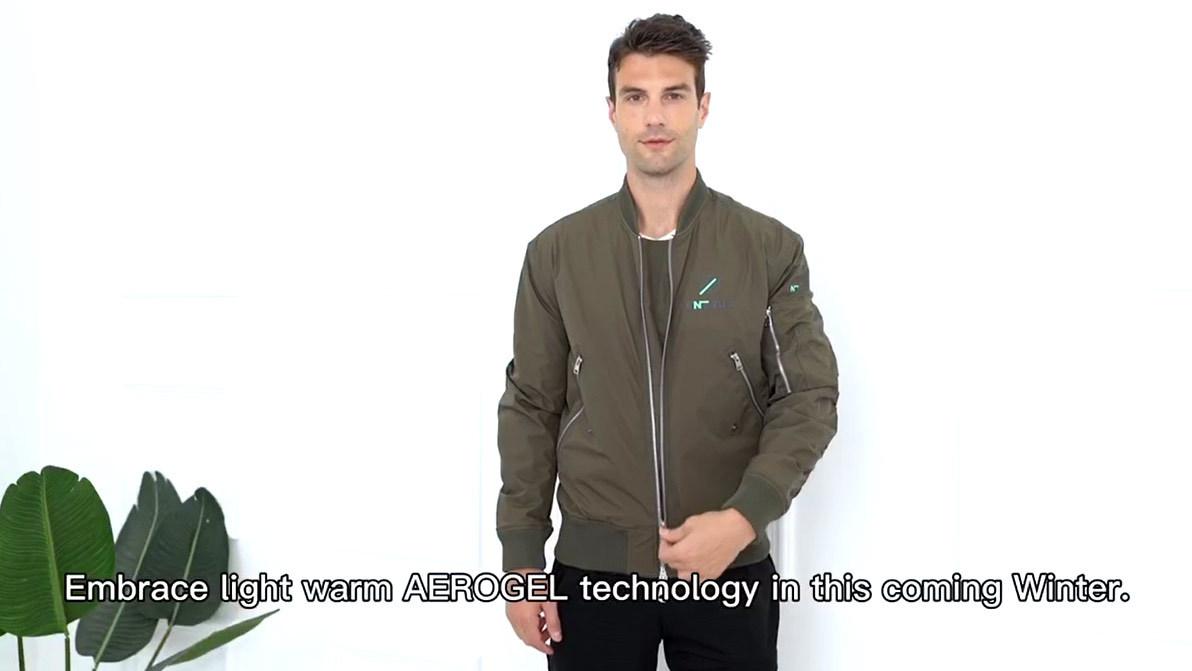 Light warm copper fabric clothing copper plus AEROGEL technology